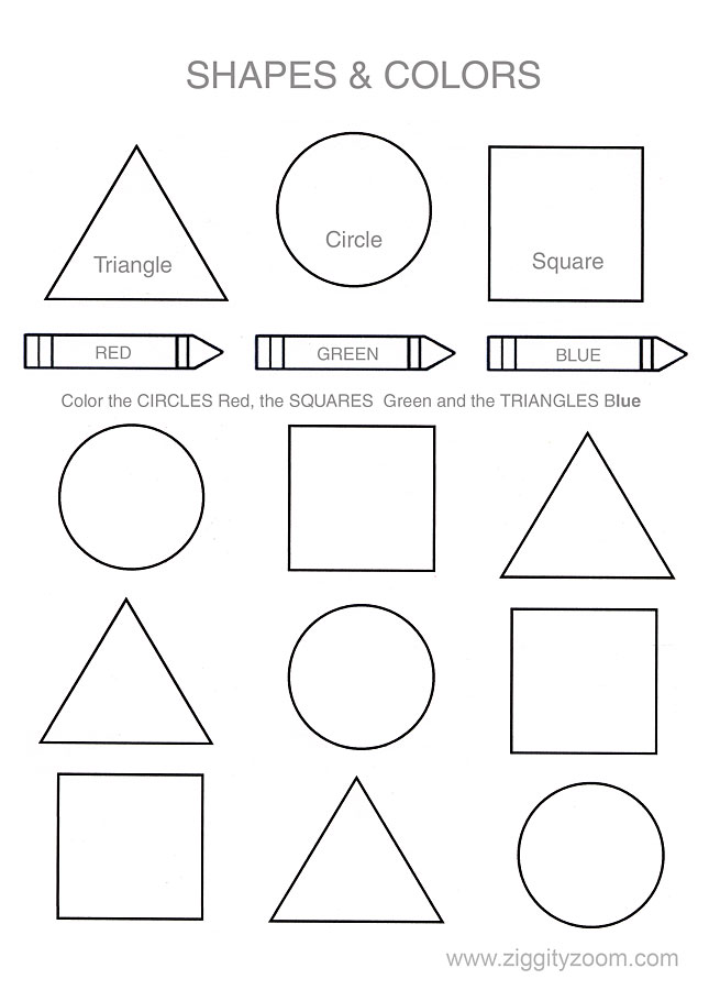 shapes and colors preschool worksheet. Black Bedroom Furniture Sets. Home Design Ideas