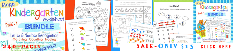 Kindergarten Mega Workbook Bundle