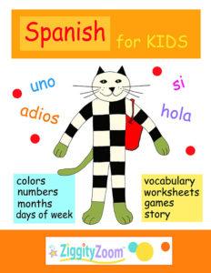 Spanish for Kids Worksheets- Preschool - Kindergarten