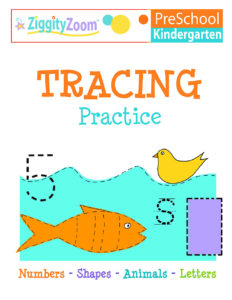 Kindergarten or Preschool Tracing Practice Worksheets
