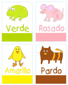image about Printable Spanish Flashcards identify Spanish for Children: Things to do, Vocabulary and Flashcards